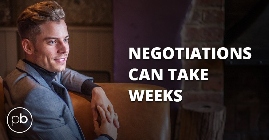 Negotiations can take weeks